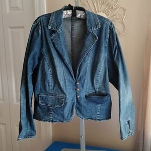 a.n.a. denim blazer